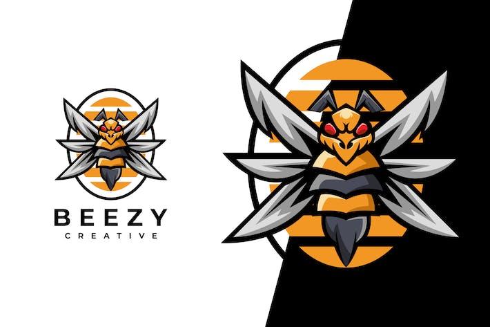 Bee Honey Character Logo Template