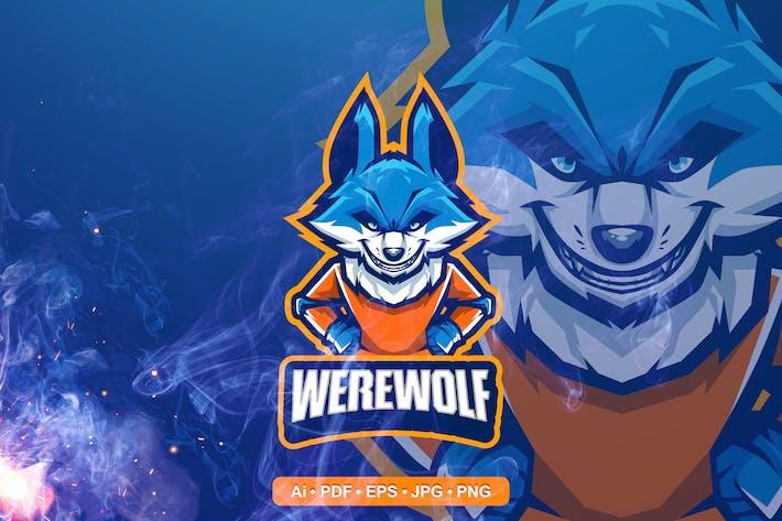 Were Wolf Esport and Sport Mascot Logo
