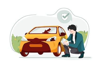 Car insurance Illustration
