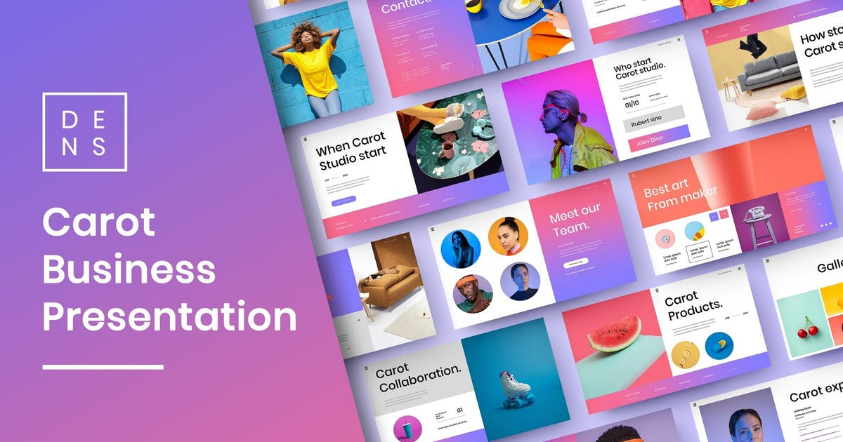 Download Carot – Business PowerPoint Template by DensCreativeStudio