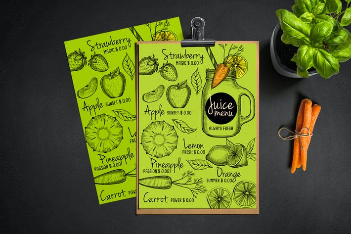 Thumbnail for Juice Bar Menu Template
