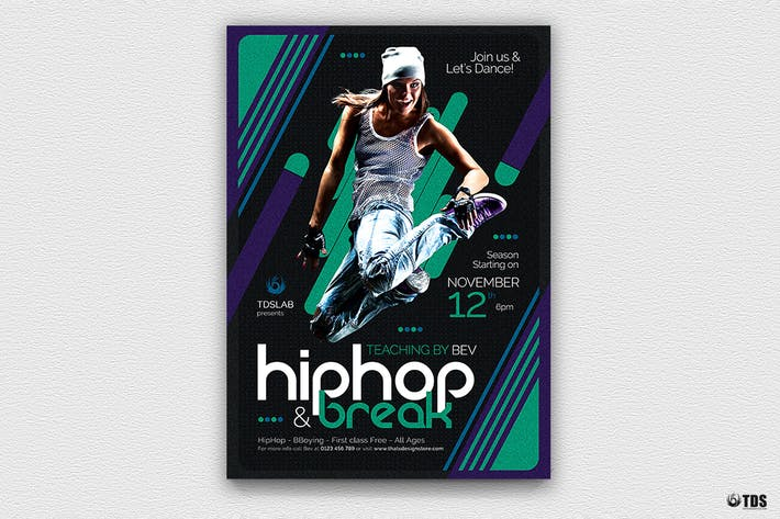 Thumbnail for Dance Classes Flyer Template V2