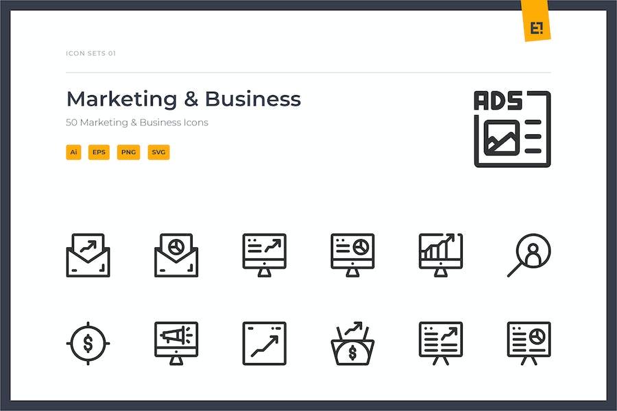 Icono - Conjunto de iconos de Marketing Empresarial