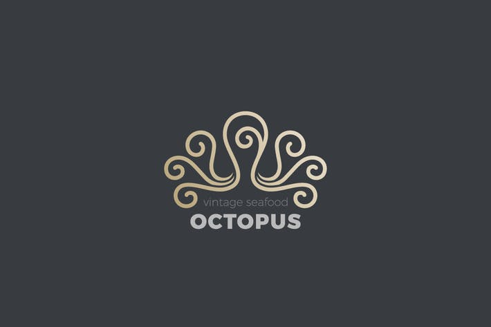 Logo Octopus Luxury Jewelry Fashion Linear style