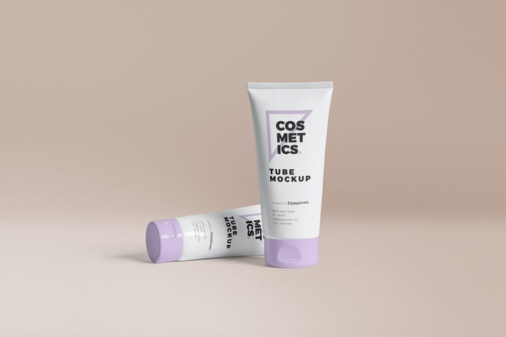Thumbnail for Cosmetic Packaging Tube Mockups
