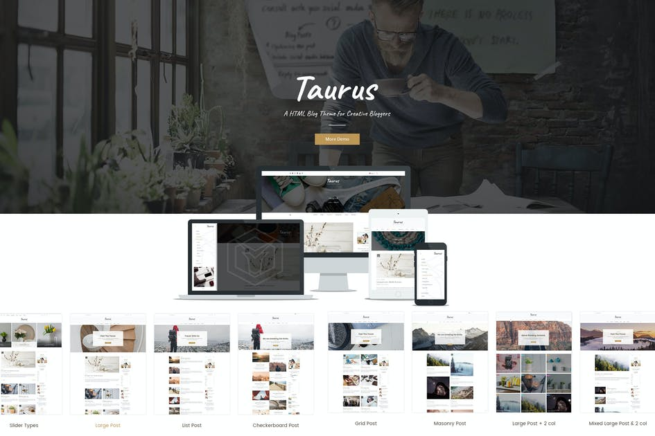 Download Taurus Personal Blog HTML Template by CreativeWS