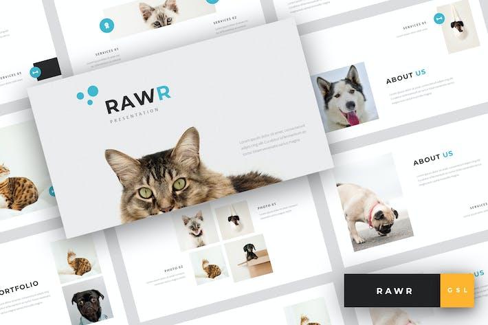 Rawr - Pet Сервис Google Слайды Шаблон