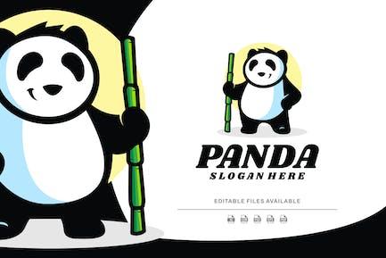 Panda Mascot Cartoon Logo