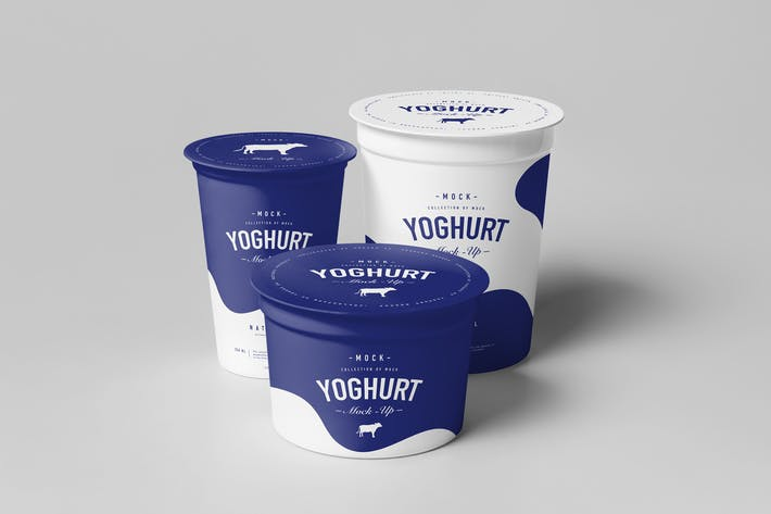 Cover Image For Yoghurt Cup Mock-up 2