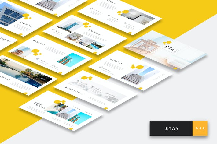 Thumbnail for Stay - Hotel Google Slides Presentation Template