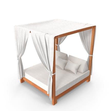 Ocio al aire libre sofá cama con dosel