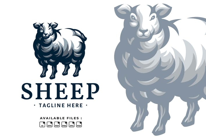 Sheep Elegant Logo