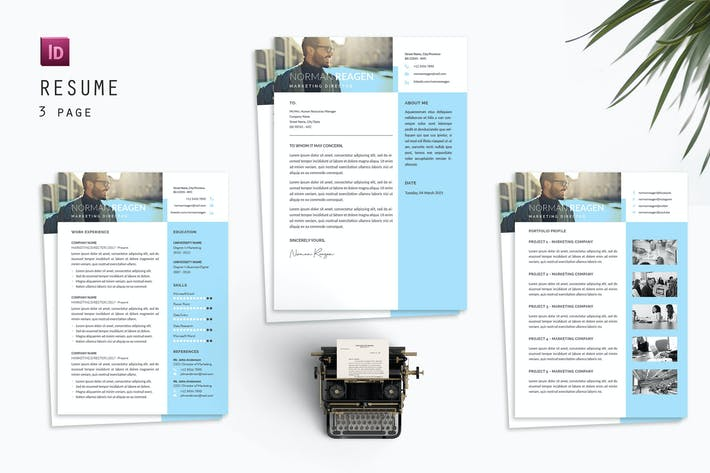 Cover Image For Norman Resume Designer