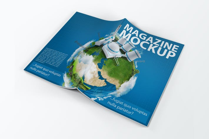 Cover Image For A4 Magazine Catalog Mock-Up