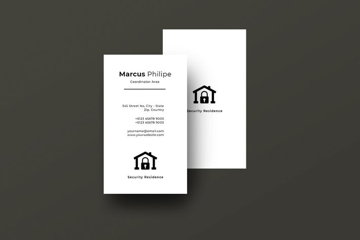 Thumbnail for Vertical Business Card Property