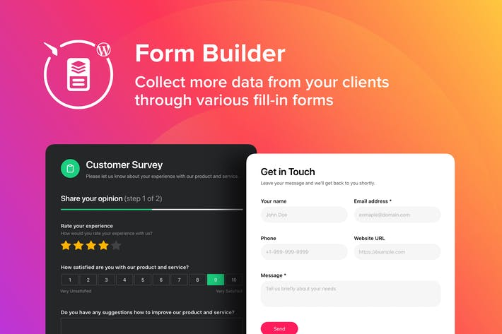 Thumbnail for WordPress Form Builder Plugin