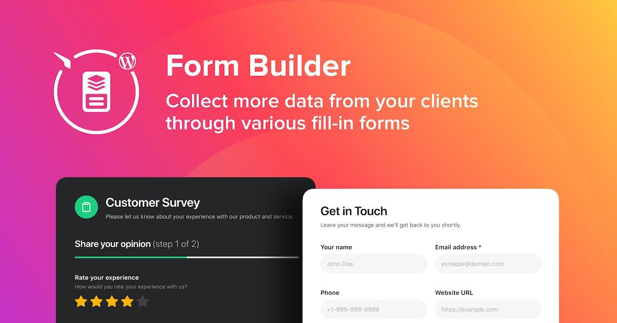 Download WordPress Form Builder Plugin by Elfsight