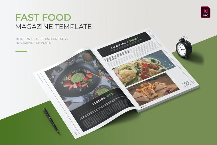 Thumbnail for Fast Food | Magazine Template