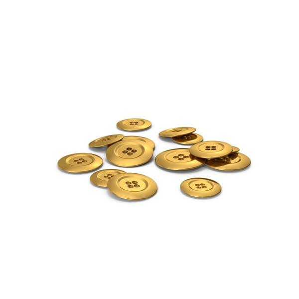 Haufen Goldknöpfe