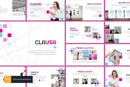 Клауса - Бизнес Google слайды Шаблон
