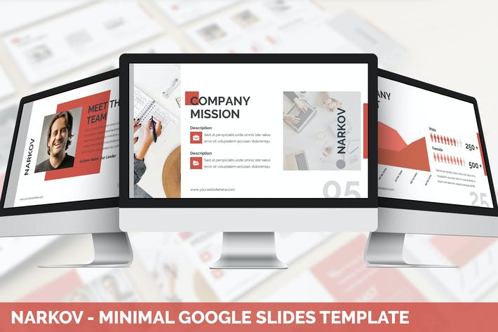 Thumbnail for Narkov - Minimal Google Slides Template
