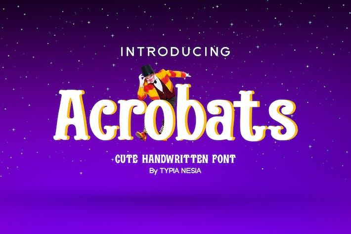 Thumbnail for Acrobats - Circus Font