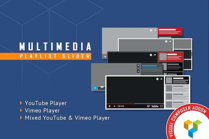 Thumbnail for Visual Composer Addon - Multimedia Playlist Slider
