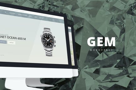 Gem — Lujo eCommerce Responsivo Tema WordPress