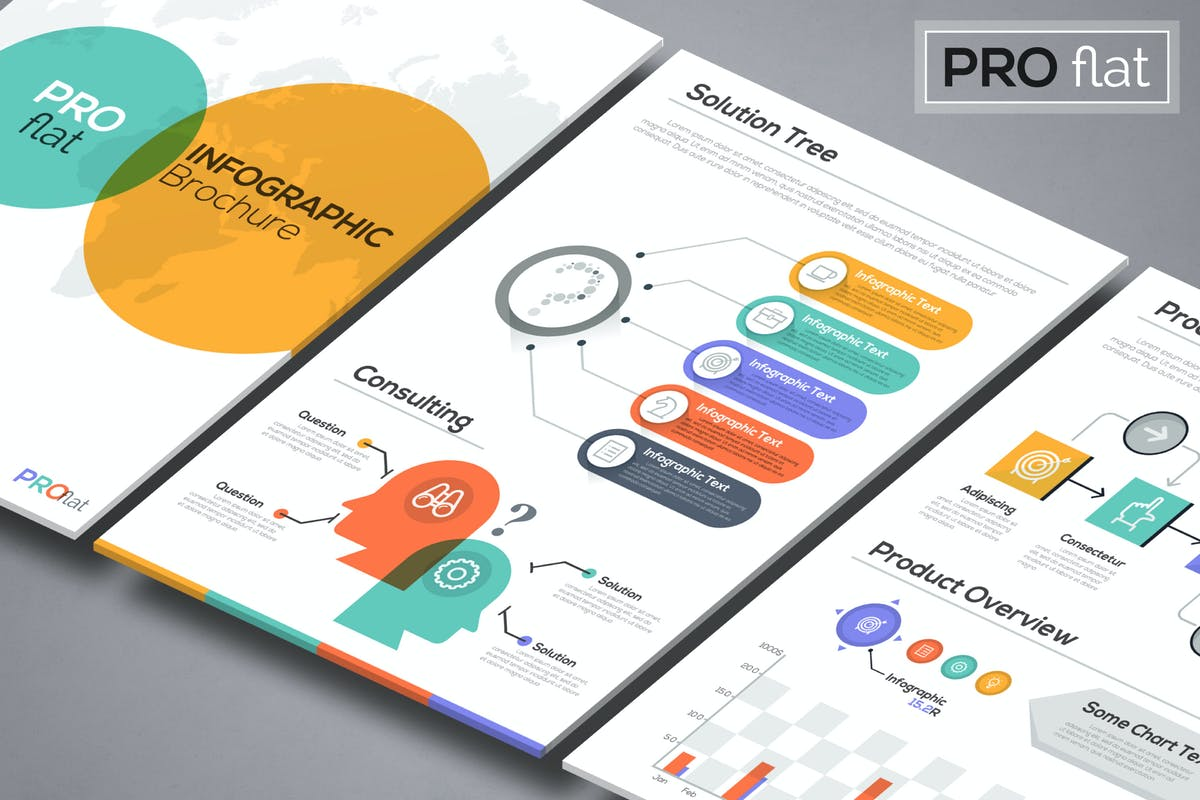 Pro flat infographic brochures by andrewkras on envato elements gumiabroncs Gallery