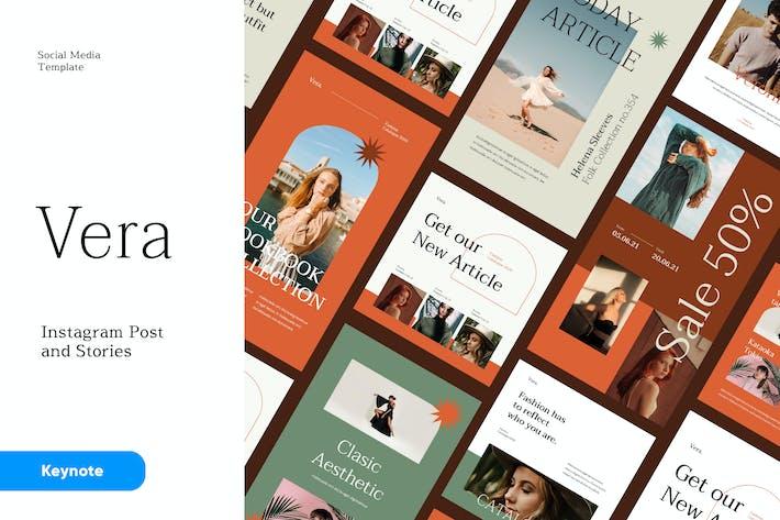 Thumbnail for Вера - Instagram Пост и Истории Keynote Шаблон