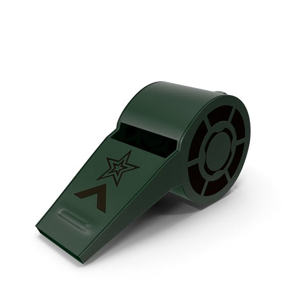 Whistle Plastic Green