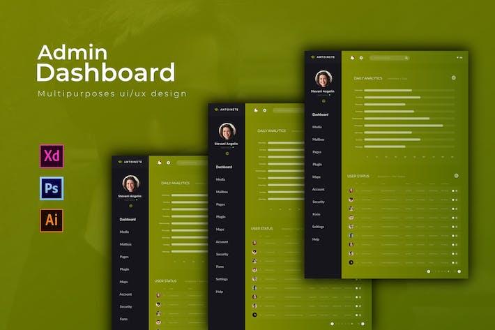 Thumbnail for Antoinette Dashboard | Admin Template