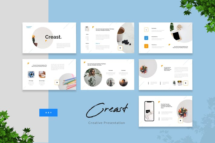 Thumbnail for Creast - Creative Keynote Presentation Template