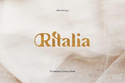 Ritalia - Элегантный шрифт с засечками