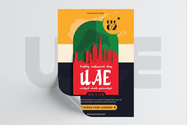 UAE National Day Flyer Template