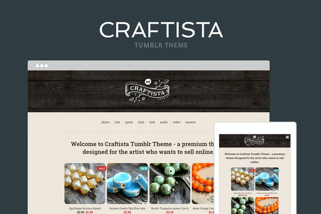 Craftista Tumblr Theme - product preview 4