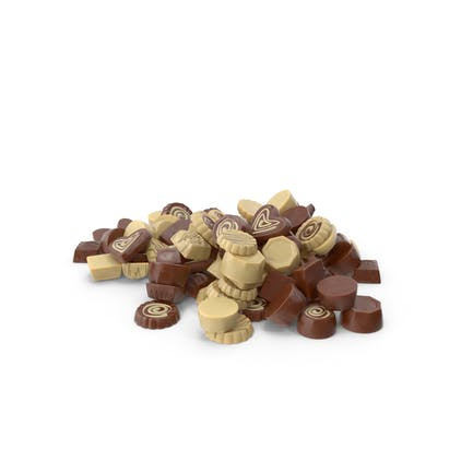 Truffle Chocolate Candy Pile