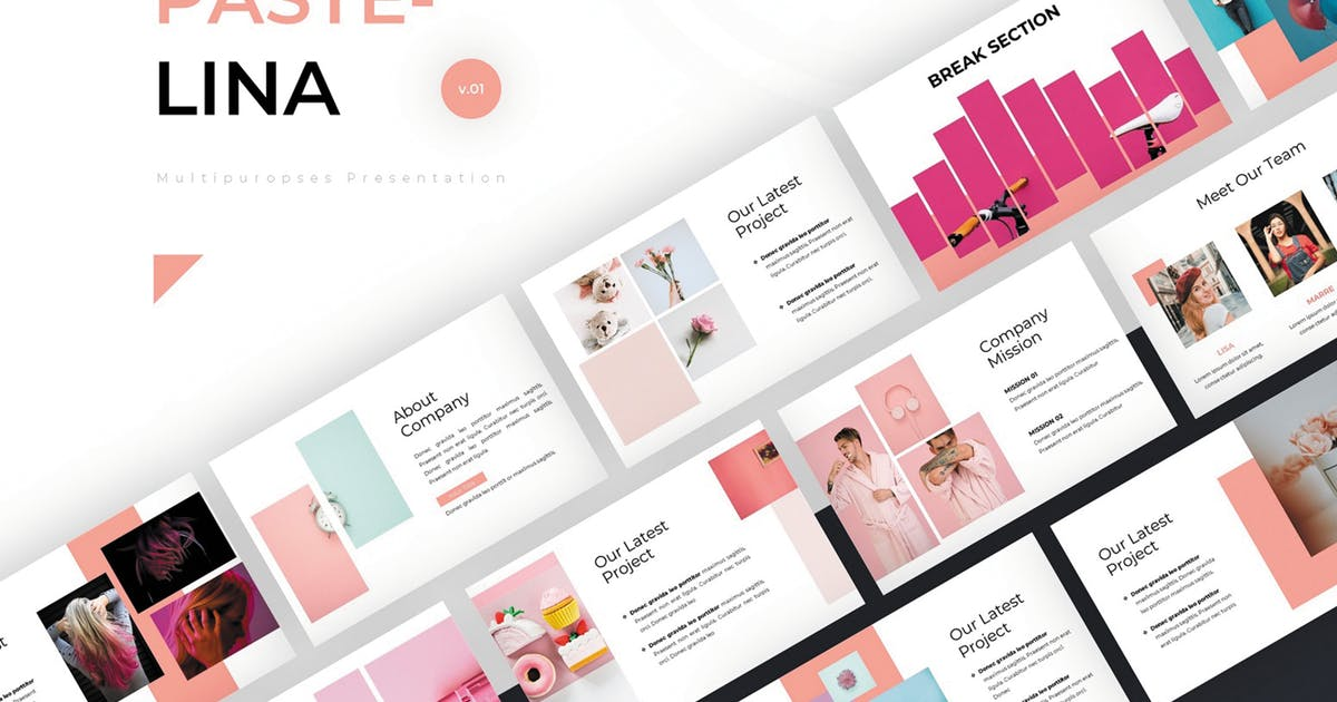Download Pastelina - Google Slides Template by SlideFactory