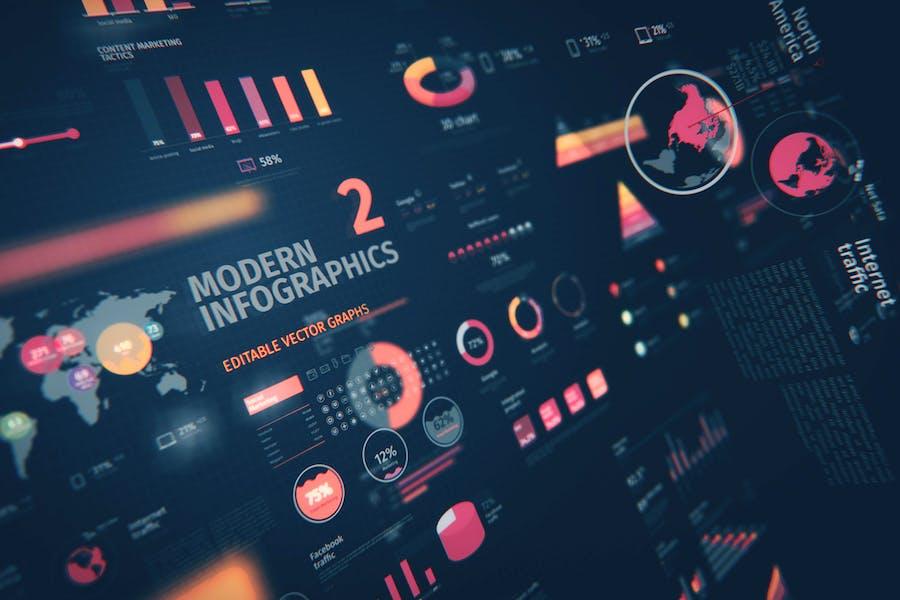 Modern Editable Infographics vol. 2