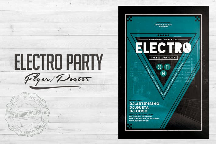 Thumbnail for Electro City Vol 02. Flyer Poster