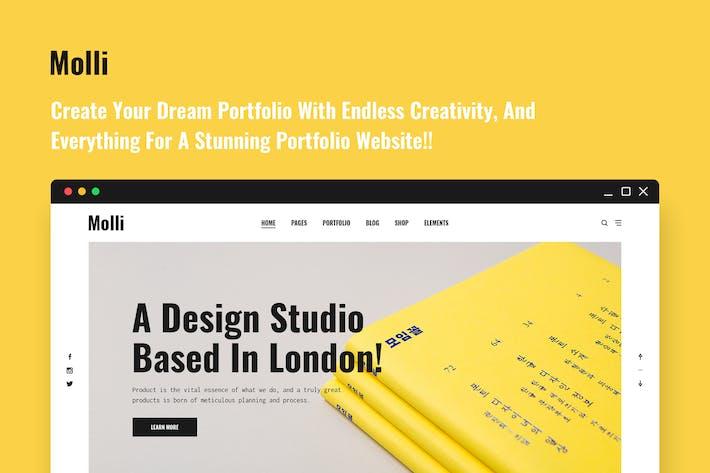 Thumbnail for Molli - Creative Portfolio & Agency PSD Template