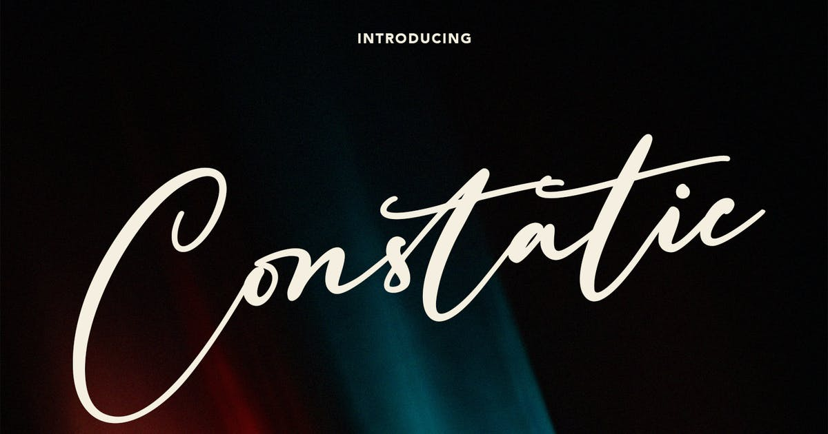 Download Constatic Signature Font by maulanacreative