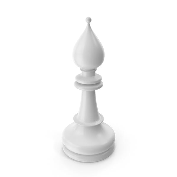 Шахматный епископ Белый