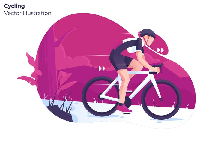 Thumbnail for Cycling - Vector Illustration