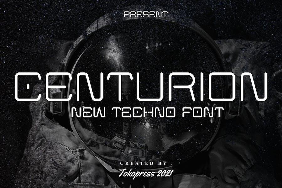 CENTURION - futuristic font
