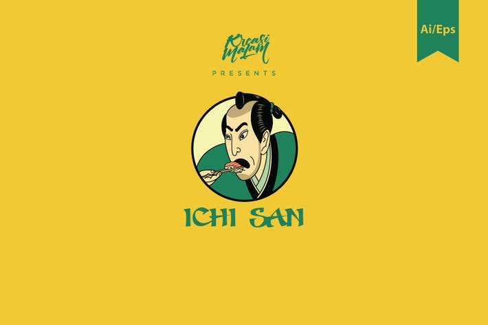 Ichi San Logo Template