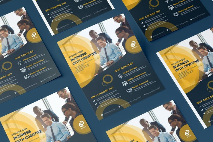 Thumbnail for Business, Corporate Flyer Illustration Template
