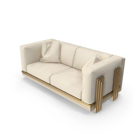 Бежевый двухместный диван