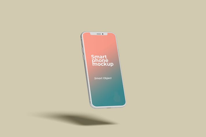 Thumbnail for Flying Smartphone Mockup