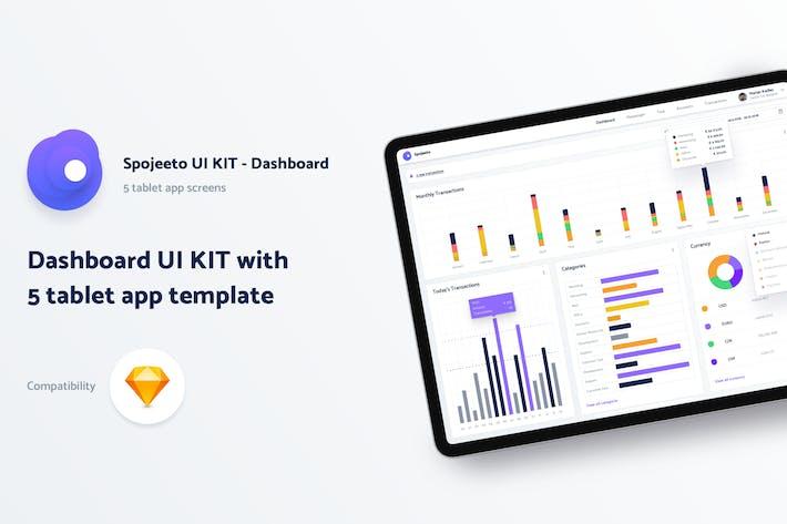 Thumbnail for Spojeeto - Dashboard Tablet UI KIT